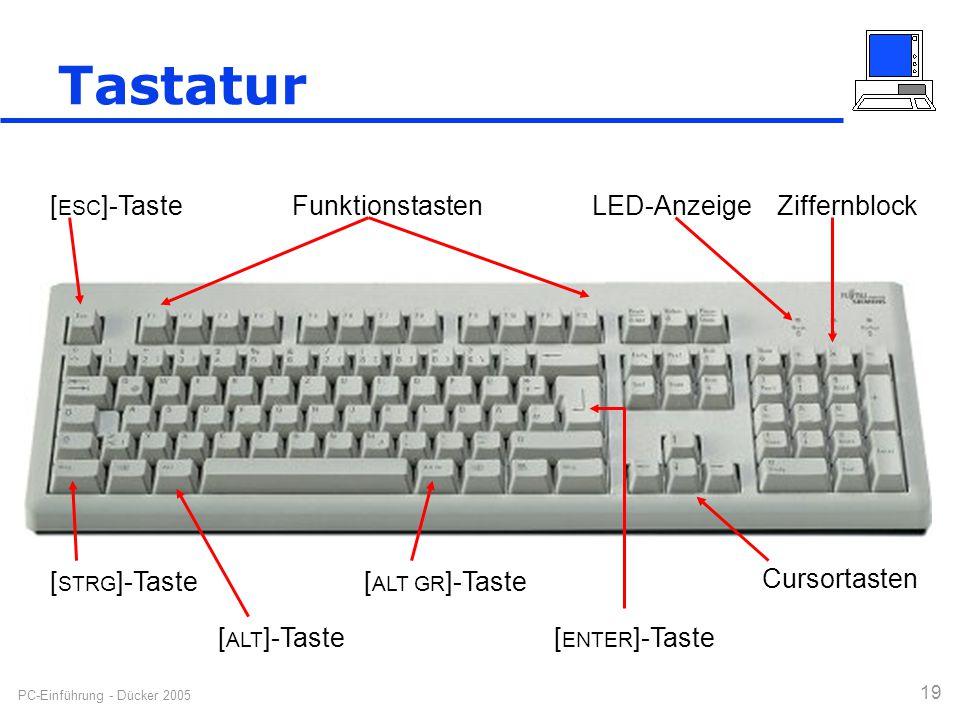 Tastatur [ESC]-Taste Funktionstasten LED-Anzeige Ziffernblock